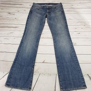 7 For All Mankind Jeans Size 28 Bootcut Womens Blu